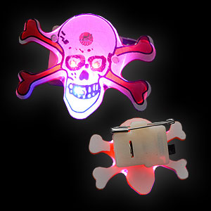 0894-012 LED Anstecker Jolly Roger